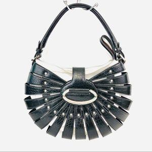 WHITE HOUSE BLACK MARKET Black & Beige Handbag